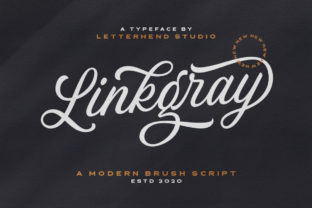 Print on Demand: Linkgray Script & Handwritten Font By letterhend