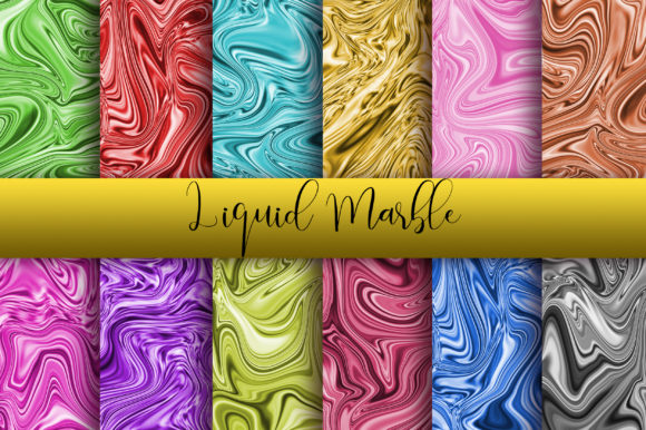 Liquid Marble Background Digital Papers Graphic Backgrounds By PinkPearly