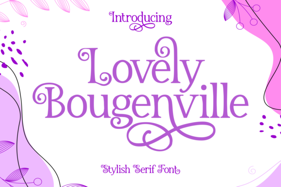 Print on Demand: Lovely Bougenville Script & Handwritten Font By Dreamink (7ntypes)