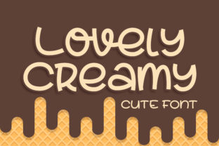 Print on Demand: Lovely Creamy Display Font By Blankids Studio