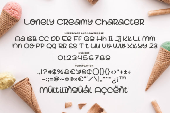 Lovely Creamy Font Image