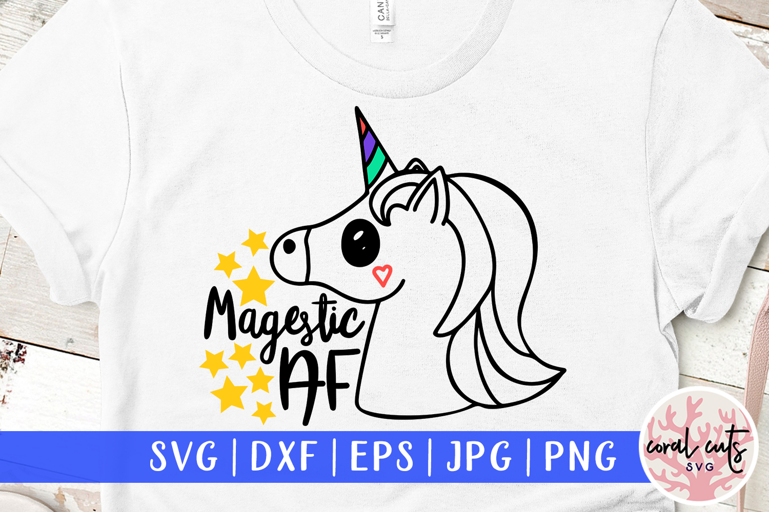 Download Free Majestic Af Graphic By Coralcutssvg Creative Fabrica for Cricut Explore, Silhouette and other cutting machines.