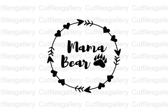 Download Free Mama Bear Bear Family Graphic By Cutfilesgallery Creative Fabrica for Cricut Explore, Silhouette and other cutting machines.