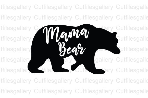 Download Free Mama Bear Blessed Mama Graphic By Cutfilesgallery Creative for Cricut Explore, Silhouette and other cutting machines.