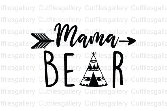 Mama Bear Graphic Crafts By cutfilesgallery
