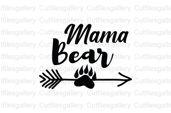 Download Free Mama Bear Graphic By Cutfilesgallery Creative Fabrica for Cricut Explore, Silhouette and other cutting machines.