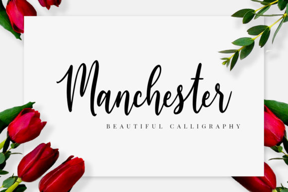 Print on Demand: Manchester Script & Handwritten Font By FatmaStudio