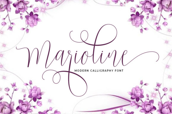 Print on Demand: Marioline Script & Handwritten Font By Aqeela Studio