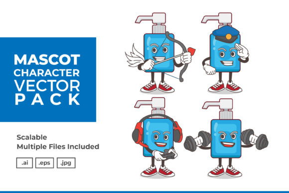 Download Free Mascot Character Vector Illustration Graphic By Dendysign Creative Fabrica PSD Mockup Template