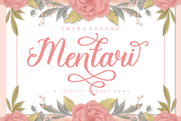 Print on Demand: Mentari Script & Handwritten Font By ToniStudio