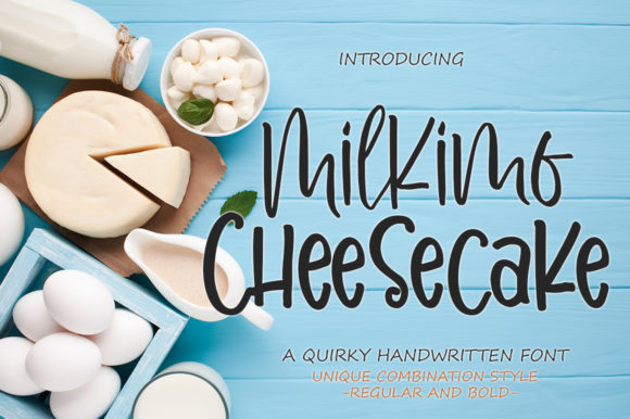 Print on Demand: Milkimo Cheesecake Script & Handwritten Font By delishadesign.font