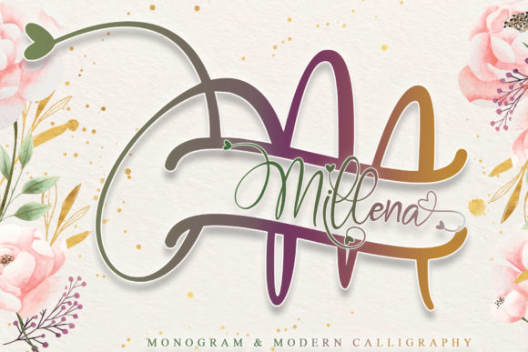 Print on Demand: Millena Script & Handwritten Font By thomasaradea - Image 1