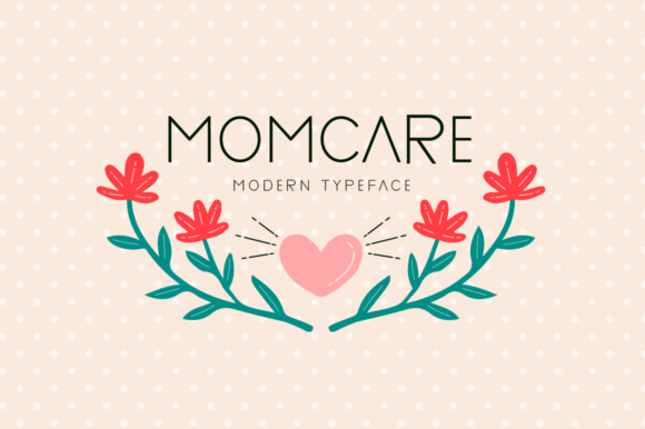 Print on Demand: Momcare Display Font By Seemly Fonts