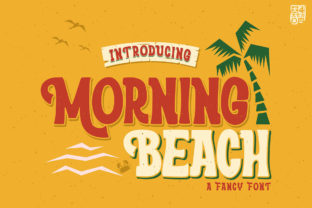 Print on Demand: Morning Beach Display Font By inumocca_type