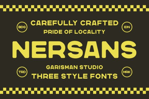 Print on Demand: Nersans Sans Serif Font By Garisman Studio
