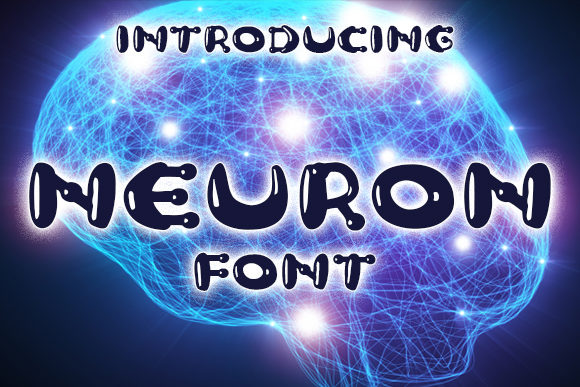 Print on Demand: Neuron Display Font By vladimirnikolic