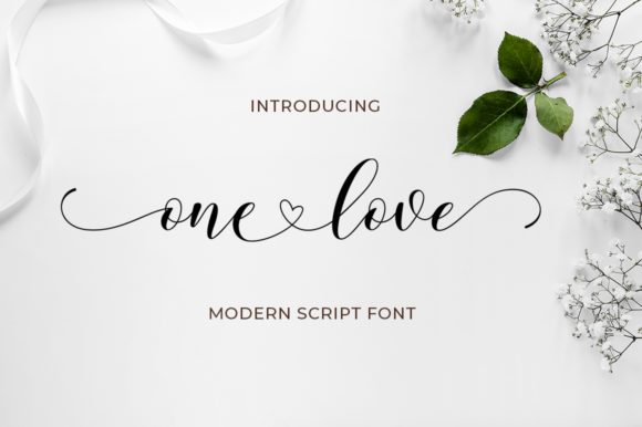 Print on Demand: One Love Script & Handwritten Font By Keren Studio