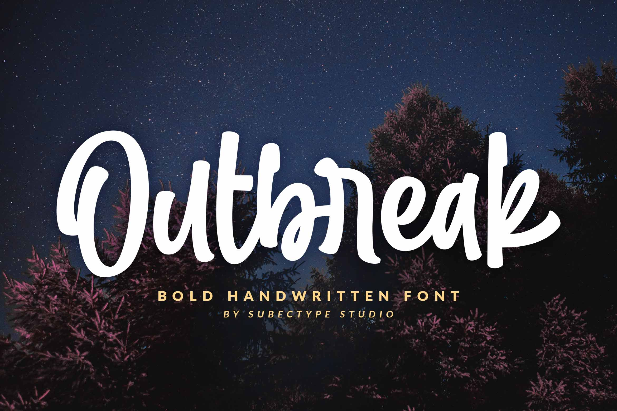 Download Free Outbreak Font By Subectype Creative Fabrica for Cricut Explore, Silhouette and other cutting machines.