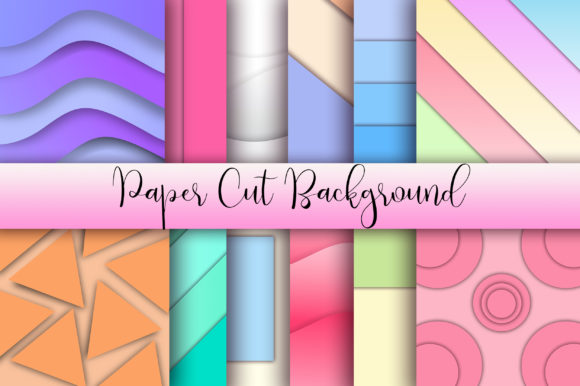 Paper Cut Background Graphic Backgrounds By PinkPearly