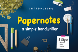 Print on Demand: Papernotes Script & Handwritten Font By Typestory