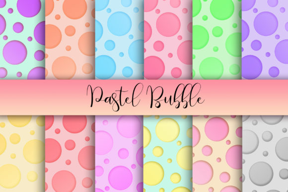 Download Free Pastel Bubble Background Digital Papers Graphic By Pinkpearly for Cricut Explore, Silhouette and other cutting machines.