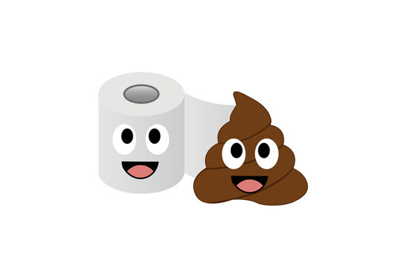 Poop and Toilet Tissue Lovers Graphic Illustrations By shawlin