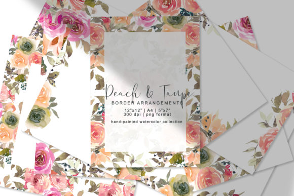 Pre-made Border Arrangement Collection Graphic Backgrounds By Patishop Art