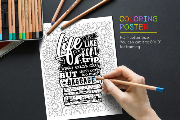 Download Free Quote Coloring Page Graphic By Danieladoychinovashop Creative for Cricut Explore, Silhouette and other cutting machines.