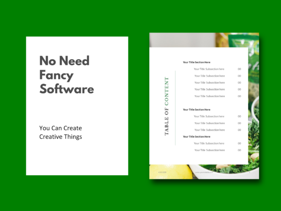 Download Free Recipe Ebook Template Graphic By Rivatxfz Creative Fabrica for Cricut Explore, Silhouette and other cutting machines.
