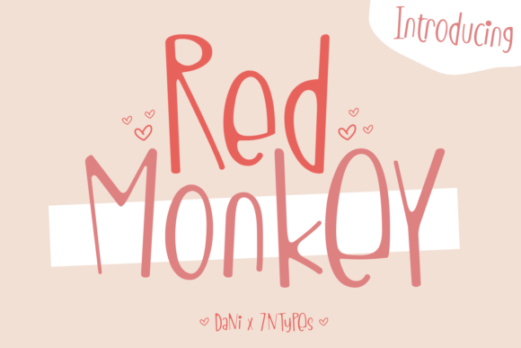 Print on Demand: Red Monkey Display Font By Dani (7NTypes)