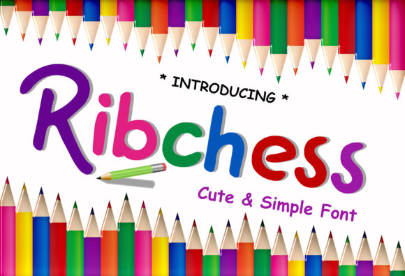 Print on Demand: Ribchess Display Font By ABs