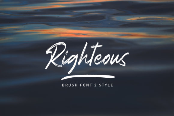 Print on Demand: Righteous Script & Handwritten Font By Arendxstudio