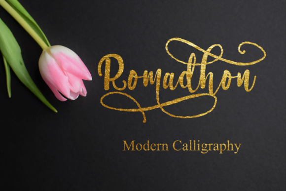 Print on Demand: Romadhon Display Font By Rusd studio
