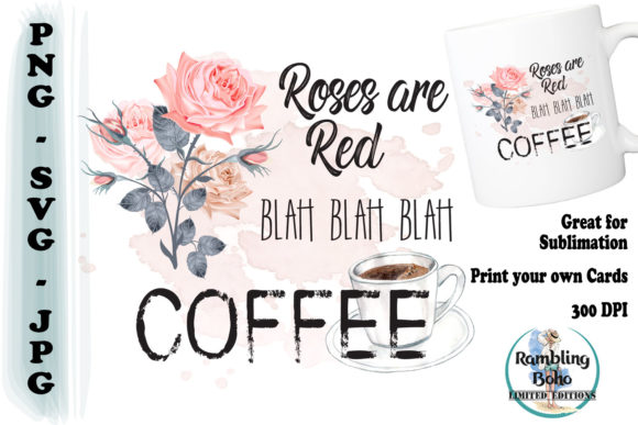 Roses Are Red Graphic Illustrations By RamblingBoho