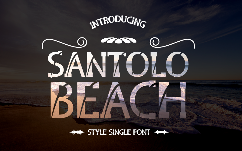 Download Free Santolo Beach Font By Inermedia Studio Creative Fabrica for Cricut Explore, Silhouette and other cutting machines.