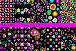 Seamless Paisley & Floral Patterns Graphic Patterns By Melissa Held Designs
