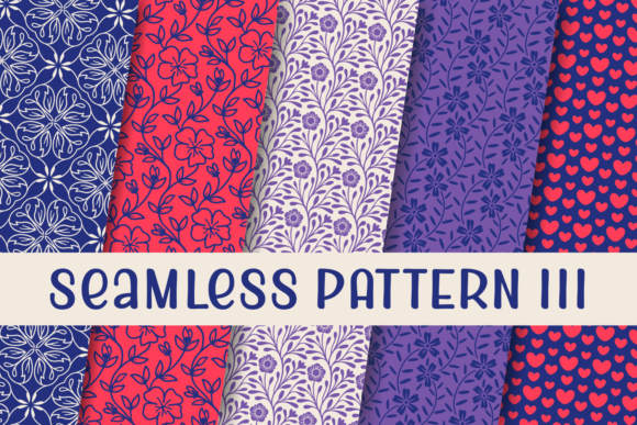 Print on Demand: Seamless Patterns III Dingbats Schriftarten von Situjuh