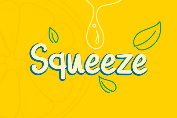 Print on Demand: Squeeze Script & Handwritten Font By Wanida Toffy