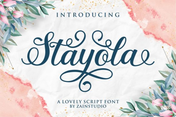 Print on Demand: Stayola Script & Handwritten Font By zainstudio