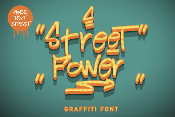 Print on Demand: Street Power Display Font By Arendxstudio