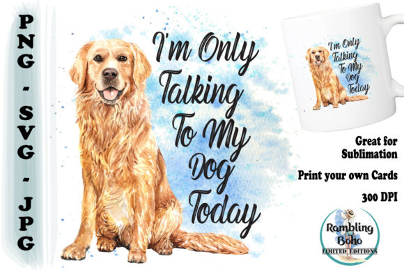 Talking to My Dog Graphic Illustrations By RamblingBoho
