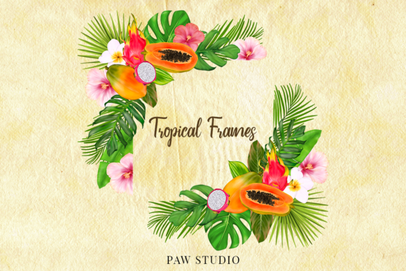 Print on Demand: Tropical Graphic Fruits, Flowers, Leaves Graphic Illustrations By PawStudio - Image 7
