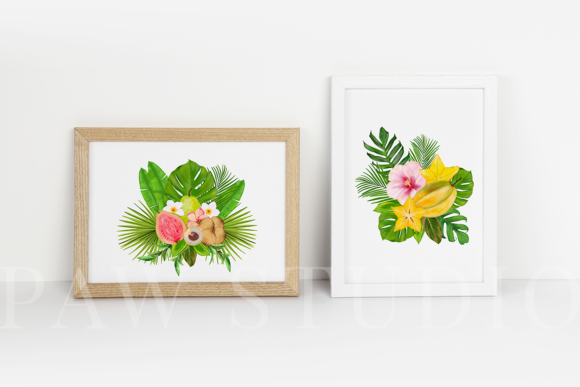 Print on Demand: Tropical Graphic Fruits, Flowers, Leaves Graphic Illustrations By PawStudio - Image 9