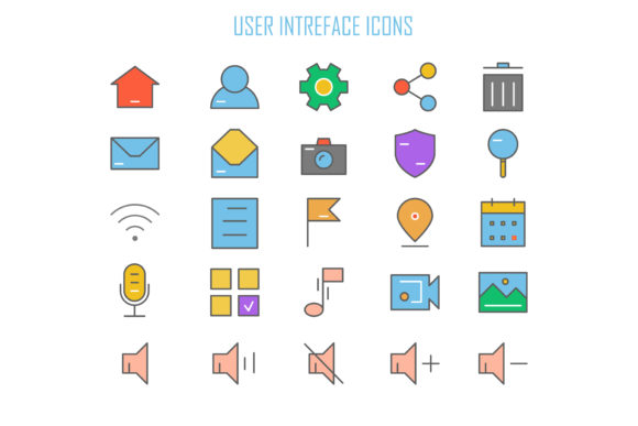 User Interface Icons Graphic