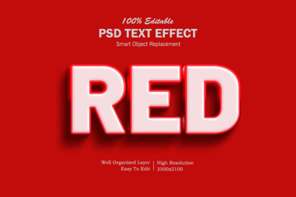 Download Free Velvet Red 3d Text Effect Graphic By Goldani412 Creative Fabrica for Cricut Explore, Silhouette and other cutting machines.