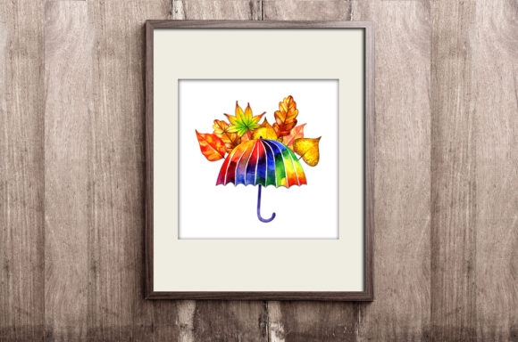 Download Free Watercolor Autumn Umbrella Clipart Graphic By Natalimyastore for Cricut Explore, Silhouette and other cutting machines.