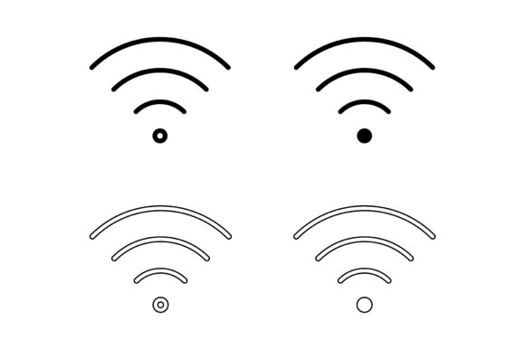 Wifi Icons Design Graphic Icons By sholicha
