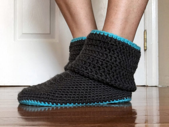 Women's Slouchy Slippers Crochet Pattern Graphic Crochet Patterns By Knit and Crochet Ever After