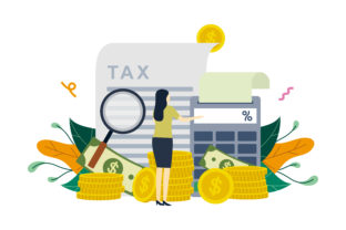 Calculation of Tax Payment Illustration Graphic Illustrations By Lartestudio