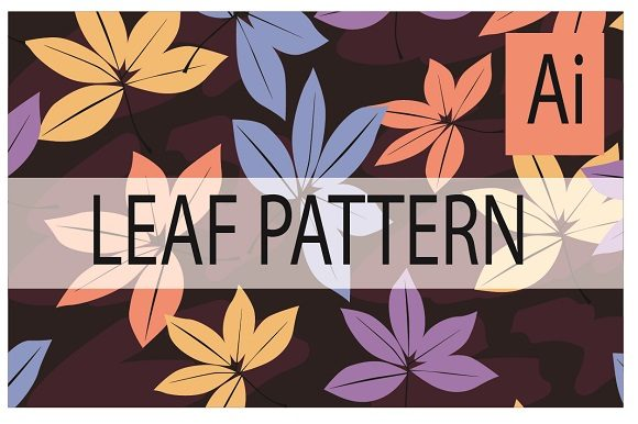 Fresh  Pattern from Leaf Graphic Patterns By ahmaddesign99